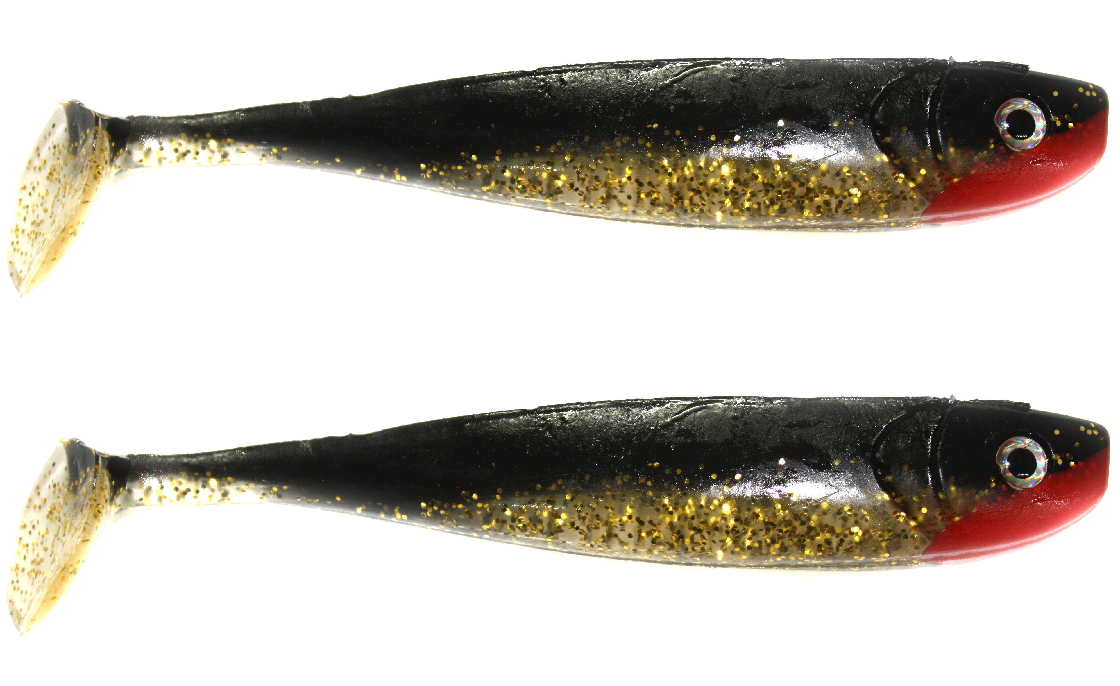 2 Stück Paladin Glücksgummi Gummifisch Schaufelschwanz 8cm